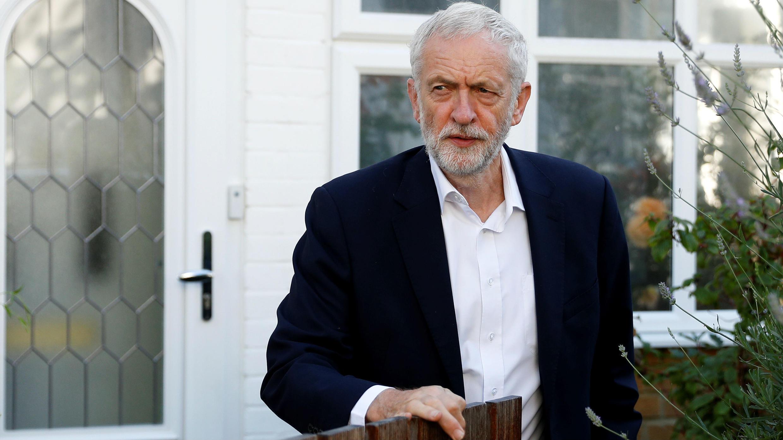 El líder laborista Jeremy Corbyn a la salida de su residencia en Londres, el 3 de julio de 2019.