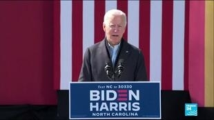 2020-10-19 08:10 US election campaign: Biden & Trump hit the rail in key swing states