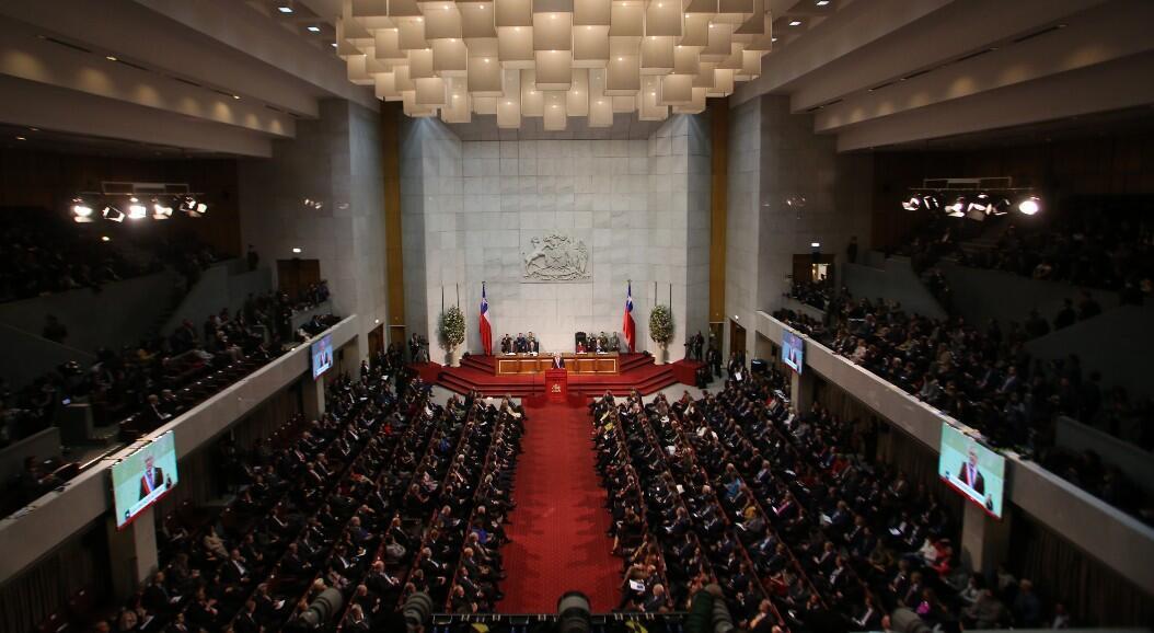 Archivo-Toma general del Congreso de Chile, durante la rendición de cuentas anual, del presidente Sebastián Piñera, el  en Valparaíso, Chile, el 1 de junio de 2018.