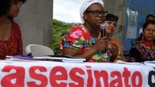 La dirigente garífuna Miriam Miranda, el 19 de septiembre de 2018 en Tegucigalpa