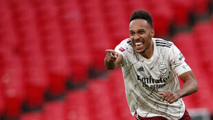 Arsenal striker Pierre-Emerick Aubameyang scored the winning penalty against Liverpool