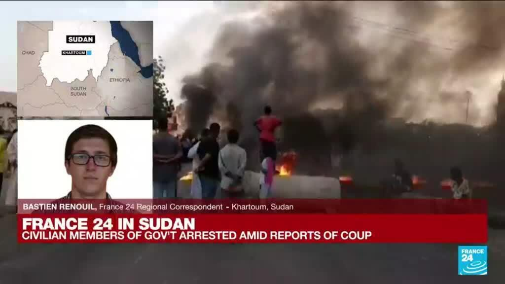 2021-10-25 12:05 Gunfire, protests as Sudan's military seizes power in coup