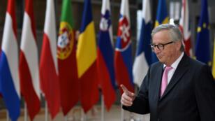 رئيس المفوضية الأوروبية جان كلود يونكر يصل إلى قمة القادة الأوروبيين في بروكسل، 30 يونيو/حزيران 2019