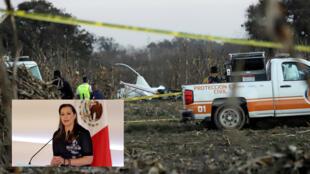 La Policía y el personal de rescate investiga en la zona en la que cayó el helicóptero en el que viajaba la gobernadora Martha Érika Alonso el 24 de diciembre de 2018.