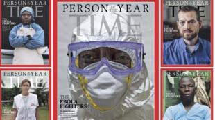 Dans son numéro du 10 décembre, l'hebdomadaire américain a rendu hommage aux personnels de santé qui luttent contre le virus en Afrique de l'Ouest.