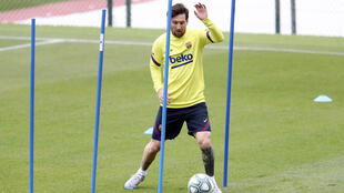 Lionel Messi's Barcelona resumed individual training on Friday