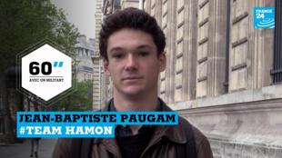 Jean-Baptiste Paugam, 18 ans, est un soutien de Benoît Hamon.