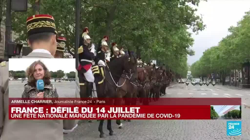 2021-07-14 10:05 14 juillet en France : Emmanuel Macron arrive pour le défilé
