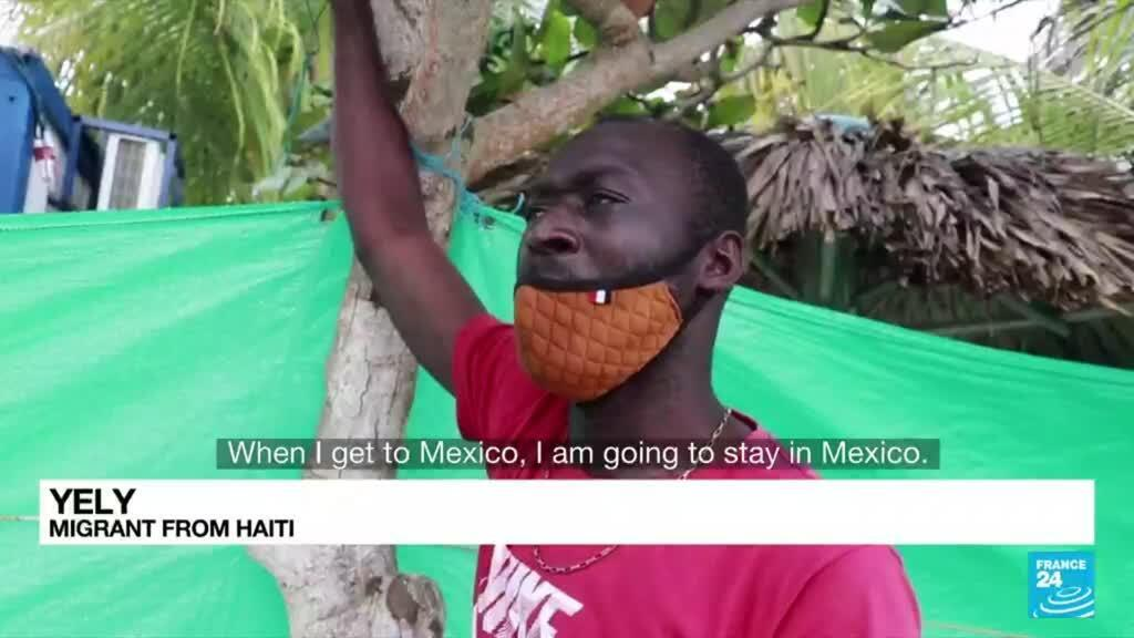 2021-09-23 08:06 Haitian migrants: Thousands trying to make their way north to US border