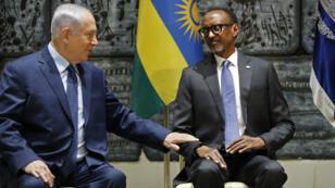 Le Premier ministre israélien, Benjamin Netanyahou, et le président rwandais, Paul Kagame, à Jérusalem, en juillet 2017.
