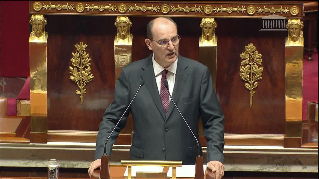 رئيس الوزراء الفرنسي جان كاستكس أمام الجمعية الوطنية، باريس، 15 يوليو/ أيلول 2020