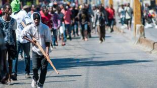 Los ciudadanos se manifestaron y bloquearon la capital de Haití para protestar contra el Gobierno de Jovenel Moïse. 11 de febrero de 2019.