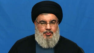Hassan Nasrallah, le chef du parti chiite Hezbollah, lors de son allocution télévisée du 5 novembre 2017.