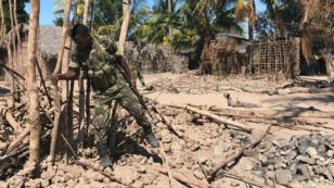 Le village de Naunde le 13 juin. Il a été dévasté par les islamistes dans la nuit du 4 au 5 juin.
