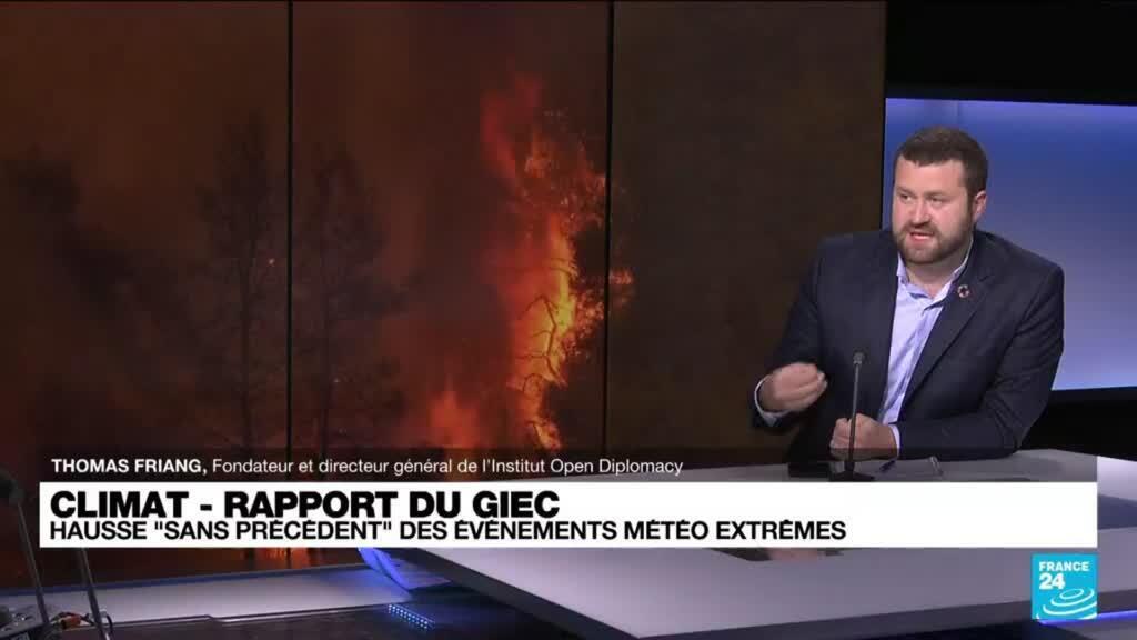 """2021-08-09 12:03 Le Giec lance un cri d'alarme sur l'impact """"irréversible"""" de l'homme sur le climat"""