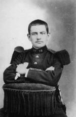 François Waterlot en 1905 lors de son service militaire au 39e Régiment d'infanterie à Rouen