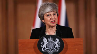 La primera ministra británica, Theresa May, da una conferencia de prensa después de una reunión con su gabinete este 2 de abril de 2019.