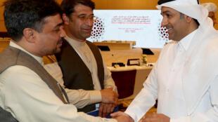 بن ماجد القحطاني، المبعوث الخاص لوزير الخارجية القطري للإرهاب والوساطة في الحوار الأفغاني، الدوحة، 8 يوليو/تموز 2018.