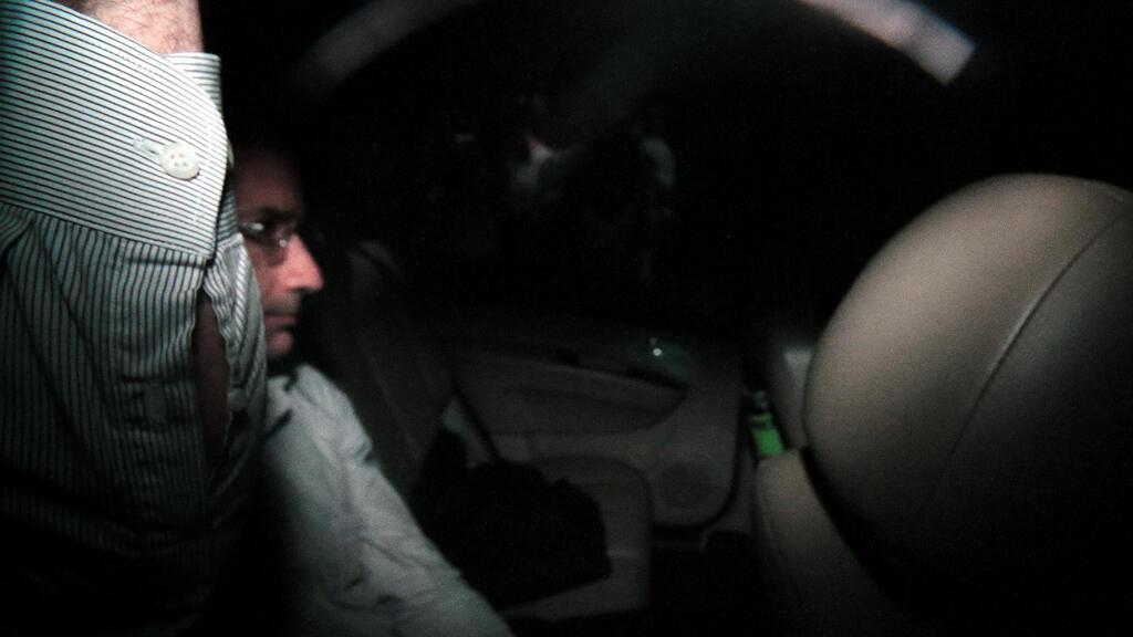 Marcelo Odebrecht, ex director general de Odebrecht SA, es visto dentro de su automóvil cuando arribó a su casa en Sao Paulo, Brasil, el 19 de diciembre de 2017.