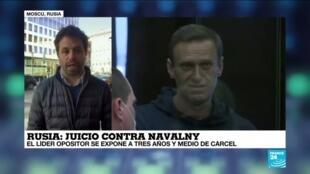 2021-02-02 13:32 Informe desde Moscú: inició juicio contra el opositor Alexéi Navalny