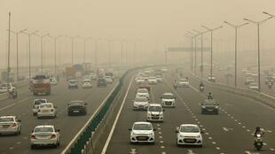 Una espesa capa de esmog cubre Nueva Delhi, en India, el 2 de noviembre de 2019.