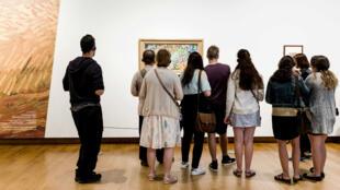 Des visiteurs au musée Van Gogh, à Amsterdam.