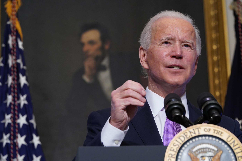 Le président américain Joe Bidenà la Maison Blanche, le 26 janvier 2021 à Washington