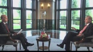 Le président turc Recep Tayyip Erdogan, lors de son interview exclusive pour France 24, le 5 juillet 2017.