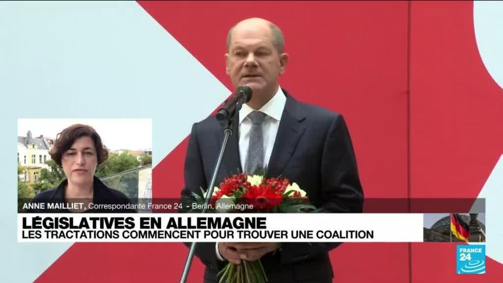 """2021-09-27 13:03 Allemagne : """"le SPD pourrait avoir une majorité absolue dans le futur gouvernement"""""""
