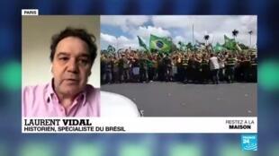 L'historien spécialiste du Brésil Laurent Vidal s'est exprimé mercredi sur France 24 pour analyser la stratégie politique du président brésilien Jair Bolsonaro pendant la crise du Covid-19.