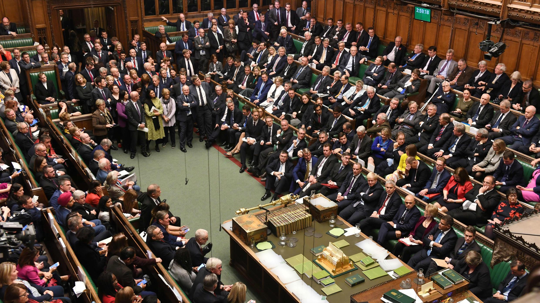 La Cámara de los Comunes discute sobre el acuerdo de Brexit renegociado por el primer ministro en Londres, Reino Unido, el 19 de octubre de 2019.