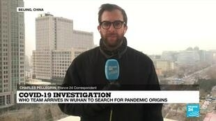 2021-01-14 08:07 WHO team arrives in Wuhan to investigate pandemic origins