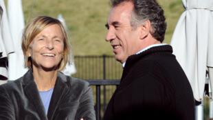 François Bayrou et Marielle de Sarnez le 29 septembre 2012 à Guidel dans le Morbihan
