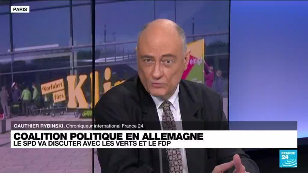 """2021-10-07 14:40 Allemagne : Scholz dit avoir """"un mandat"""" pour former une coalition avec les Verts et le FDP"""