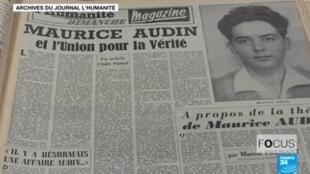 Maurice Audin, comunista y partidario de la independencia de Argelia, desapareció en 1957 después de haber sido detenido en su domicilio.