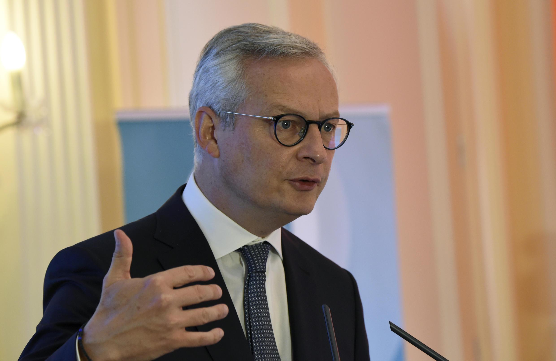 El ministro de Economía francés, Bruno Le Maire, habla durante un foro sobre energía el 8 de septiembre de 2020 en París