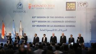 مشاركون في الدورة 83 للجمعية العامة للأنتربول في موناكو في 3 تشرين الثاني/نوفمبر 2014