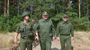 Lukashenko with military