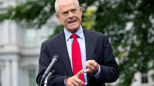 White House trade advisor Peter Navarro, pictured in June 2020, alleges the apps funnel data to China