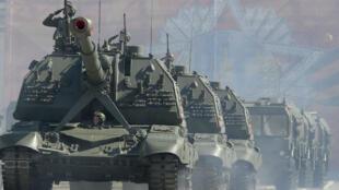 عرض عسكري للقوات الروسية في سان بطرسبرغ 9 مايو/أيار 2018