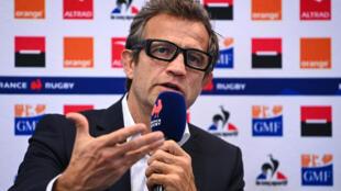 Le sélectionneur des Bleus, Fabien Galthié, en conférence de presse à Paris, le 4 décembre 2020