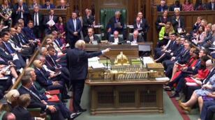 Le Premier ministre britannique, Boris Johnson, le 3 septembre 2019, à la Chambre des communes.