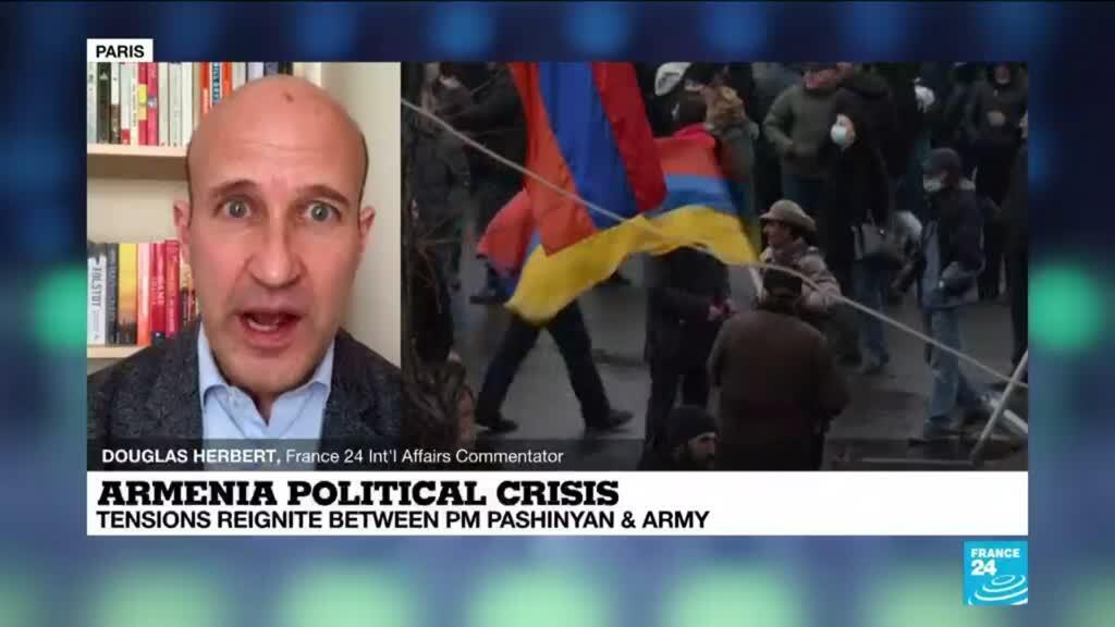 2021-03-10 13:40 Armenia political crisis: Army chiefs reiterate call for PM to step down