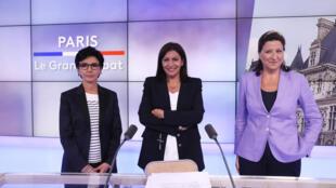 Les trois candidates aux élections municipales à Paris.