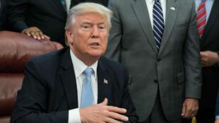 Donald Trump, dans le bureau ovale, le 3 septembre 2017.