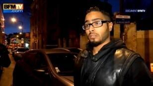 Jawad Bendaoud s'était exprimé brièvement sur BFMTV, lors de l'assaut du Raid à Saint-Denis, le 18 novembre 2015.