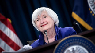 La entonces presidenta de la Reserva Federal Janet Yellen habla durante una reunión celebrada en Washington, el 13 de diciembre de 2017