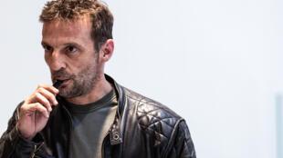 L'acteur Mathieu Kassovitz, qui incarne l'agent Malotru dans la série, le 23 mai 2019 à Paris