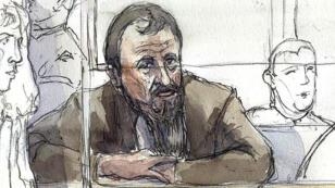 اسكتش رسم لكريستيان غانزارسكي في محكمة باريس العام 2009
