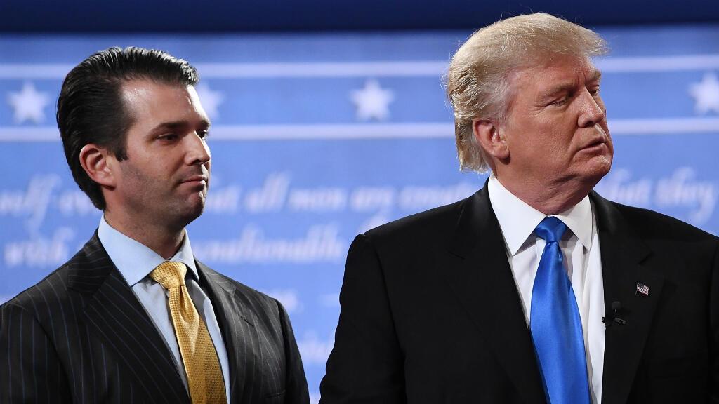 Donald Trump et son fils Donald Trump Jr. en septembre 2016, à New York.